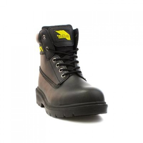 Earth Works Safety Lace Up Boot in Black