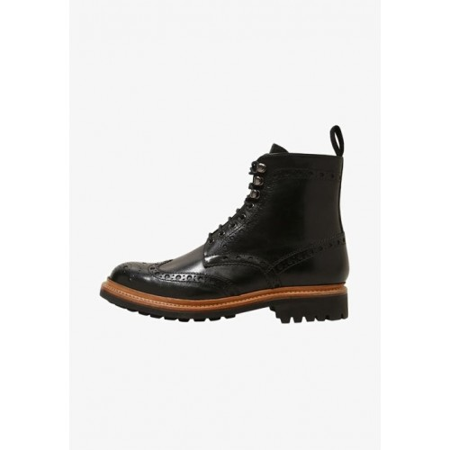 Grenson FRED COMMANDO - Lace-up boots - black - Womens T-Shirts WUPPVLNX