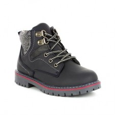 Chatterbox Boys Grey Zip Fasten Boot with Laces - Boy Shoes 28323 HBDKQTA