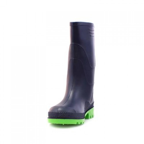 Kids Wellington Boots in Navy and Green - Boy Shoes 79203 WPUYFEL