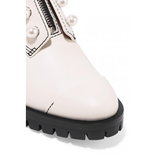 3.1 Phillip Lim | Hayett faux pearl-embellished leather ankle boots | NET-A-PORTER.COM - Women Boots 3.1 Phillip Lim 1084613 LJDUXES