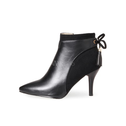 High Heel Booties Women Ankle Boots Hunter Green Pointed Toe Booties 10690745340 LWRHBMD Women Boots