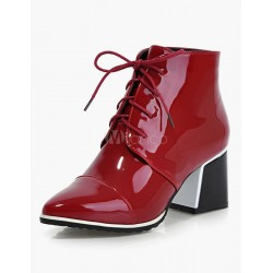 Red Pointed Toe Martin Boots 10690555967 JMIMYBL Women Boots