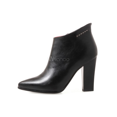 Women Ankle Boots Atrovirens Pointed Toe Zip Up High Heel Booties 10690755636 YONUEAE Women Boots