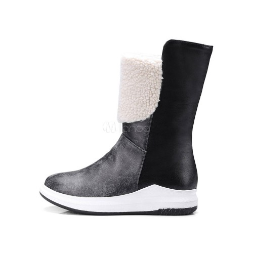 Women Ankle Boots Light Brown Winter Boots Round Toe Slip On Flat Boots 10690740110 QCHYDUX Women Boots