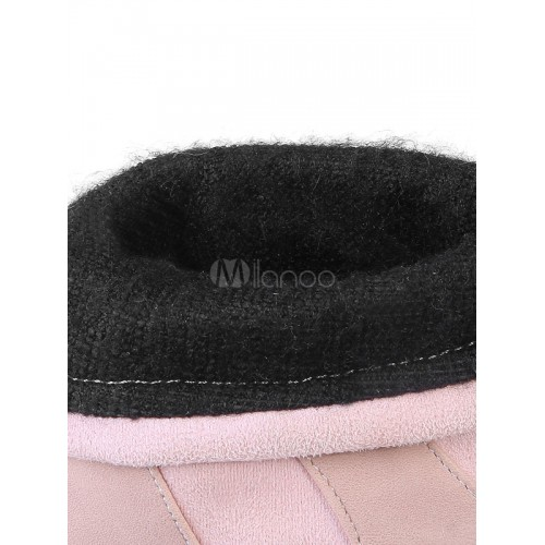 Women Ankle Boots Winter Boots Pink Round Toe Slip On Suede Boots 10690737376 UGNSYJL Women Boots