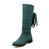 Women's Winter Boots Chunky Heel Round Toe Suede Mid Calf Boots 10700729228 PSJIQCN Women Boots
