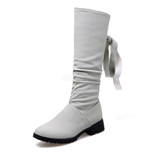 Women's Winter Boots Chunky Heel Round Toe Suede Mid Calf Boots 10700729228 TAWRAJV Women Boots