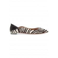 Aquazzura | Zen zebra-print calf hair collapsible-heel point-toe flats | NET-A-PORTER.COM - Women Pumps Aquazzura 1099870 ZQKRAML