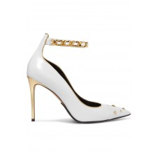 Balmain | Embellished metallic-trimmed leather pumps | NET-A-PORTER.COM - Women Pumps Balmain 1064574 RKLTQVB