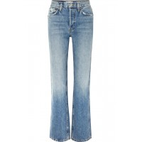 RE/DONE   Originals distressed high-rise straight-leg jeans   NET-A-PORTER.COM - Women Jeans RE/DONE 1076979 MSANMUW