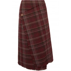 Acne Studios | Checked tweed wrap-effect skirt | NET-A-PORTER.COM - Women Skirts Acne Studios 1067468 DWULXUV