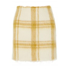 ALEXACHUNG | Checked wool-blend felt mini skirt | NET-A-PORTER.COM - Women Skirts ALEXACHUNG 1078779 WHMASIN